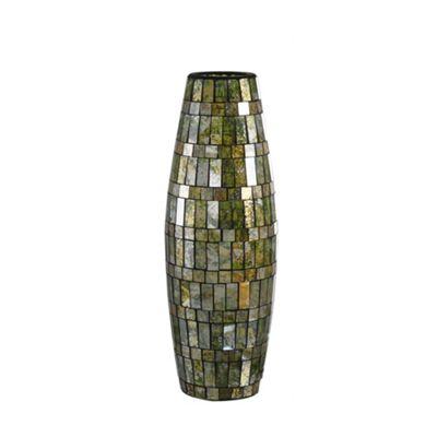 Amber Green Tile Mosaic Vase