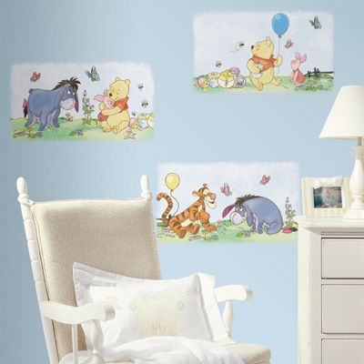 Winnie The Pooh Wall Sticker, Baby Wall Stickers,Pooh Poster Giant Wall Sticker