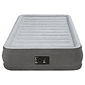 Intex Twin Dura-Beam Comfort-Plush Mid Rise Airbed with Built-in Pump