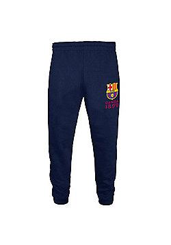 FC Barcelona Boys Slim Fit Jog Pants - Navy blue
