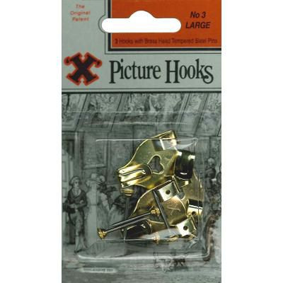 Shaw No3 Double Picture Hooks Blister