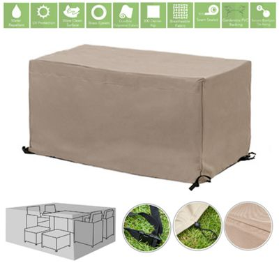 Stone Water Resistant Outdoor Furniture Cover Protector for 6 Seater Garden Dining Set
