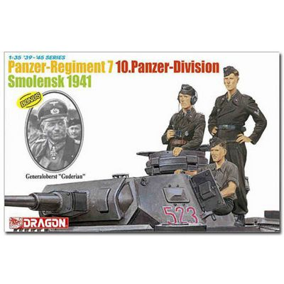 Dragon 6655 Panzer Regiment 7 10 Panzer Di Model Kit 1:35 Figures