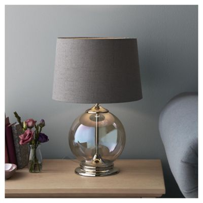 Fox ivy iridescent glass table lamp