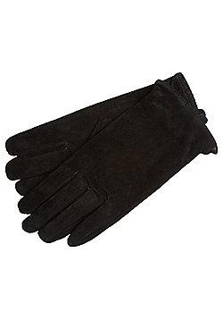 Pieces Suede Gloves - Black
