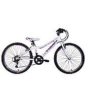 "Tiger Angel 24"" Wheel Junior Mountain Bike White Purple"