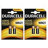 4 x Duracell Alkaline MN21 A23 12V Battery 23A LRV08 K23A E23A Batteries