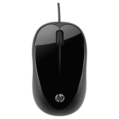 HP X1000 Optical Wired USB Mouse - Black