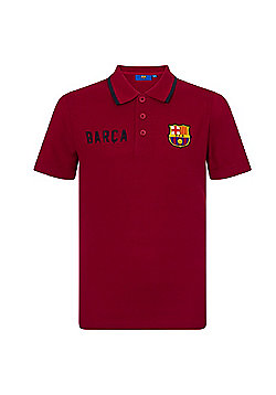 FC Barcelona Boys Polo Shirt - Red