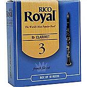 Rico Royal 3 Bb Clarinet Reeds (x10)