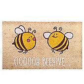Puckator Bee Design Door Mat 36 x 76cm