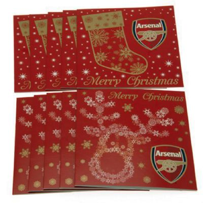 Arsenal FC 10 Pack Christmas Cards