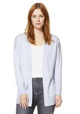 F&F Open Front Cardigan Blue 6