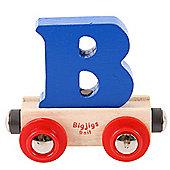 Bigjigs Rail Rail Name Letter B (Dark Blue)
