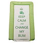 Babywise Baby Changing Mat - Keep Calm & Change My Bum (Green)