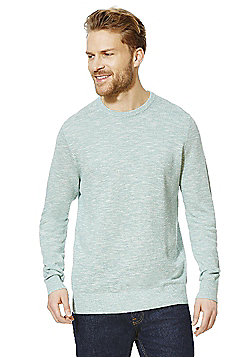 F&F Slub Crew Neck Jumper - Mint
