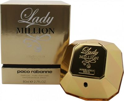 Paco Rabanne Lady Million Absolutely Gold Pure Perfume 80ml Spray For Women