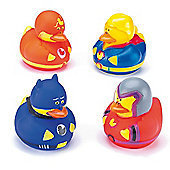 Hero Rubber Ducks for Kid's Toys, Party Bags & Prizes (Pack of 6)