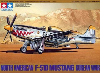 North American F-51D Mustang Korean War - 1:48 Aircraft - Tamiya