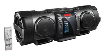 Portable CD Boomblaster with Lightning Dock, Bluetooth & DAB