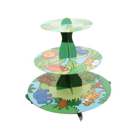 Mason Cash Jungle Friends 3-Tier Cupcake Stand, 32cm