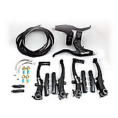 Clarks V-Brakeset F&R in Black inc. Cables, Lead Pipes & Boots