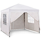 VonHaus Pop Up Gazebo 2.5x2.5m Set - Outdoor Garden Marquee with Water-resistant Cover, Wind Bars & Leg Weights