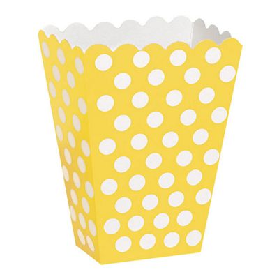 Discontinued - Yellow Polka Dot Treat Boxes