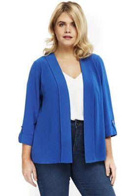Evans Soft Plus Size Jacket Cobalt 28