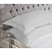 Julian Charles Luxury 180 Thread Count Oxford Pillowcases - Silver