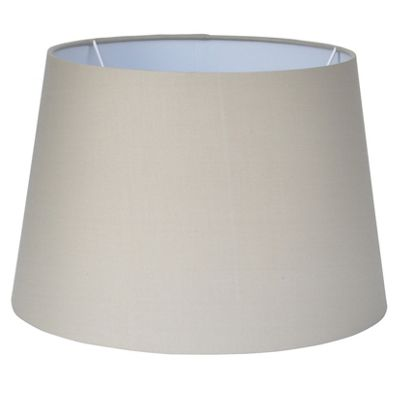 30cm Taupe Tapered Poly Cotton Shade