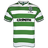 Celtic FC Mens 1985 Cup Final Retro Shirt Large - Green