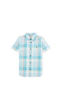 F&F Checked Short Sleeve Shirt - Blue & Multi