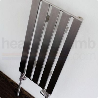 Aeon Supra Stainless Steel Designer Vertical Radiator 600mm High x 305mm Wide - Single Panel