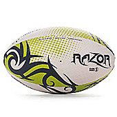 Optimum Razor Rugby League Union Ball Black/Yellow/White - Size 4