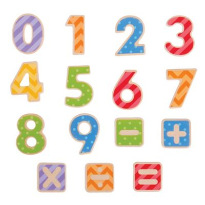 Bigjigs Toys Educational Wooden Magnetic Numbers