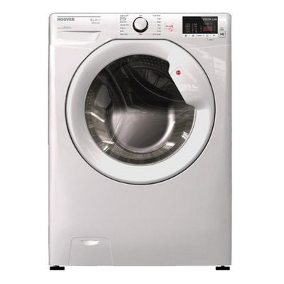 Hoover-HLW585DC Freestanding Washer Dryer with 8kg and 5kg Capacity Loads and 1500RPM Spin Speed in White