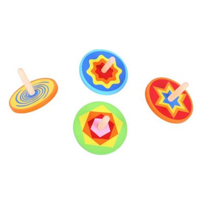 Bigjigs Toys Snazzy Spinning Tops (Pack of 4)