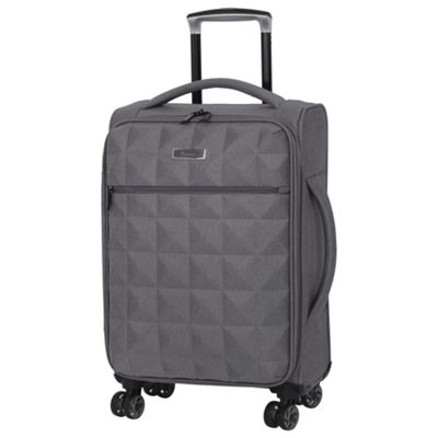 buy it luggage megalite quilted cabin 8 wheel grey. Black Bedroom Furniture Sets. Home Design Ideas