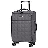IT Luggage Megalite Quilted 8-Wheel Grey Cabin Case