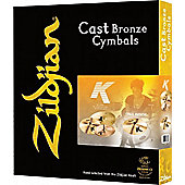 Zildjian K0800 K Promo Box Set Plus 18in K Dark Thin Crash