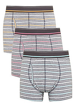 F&F 3 Pack of Feeder Stripe Trunks with As New Technology - Multi