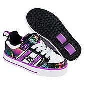 Bolt Plus White/Black/Rainbow Hearts Heely X2 Shoe - Multi