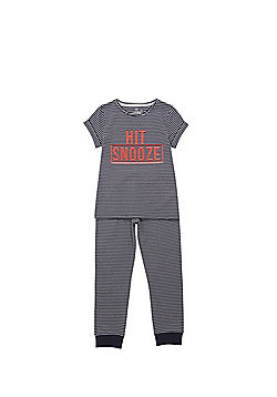 F&F Hit Snooze Pyjamas - Navy