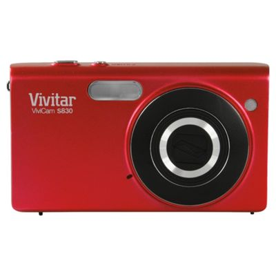 Vivitar VS830 Digital Camera, Red, 16MP, 8x Optical Zoom, 3.0