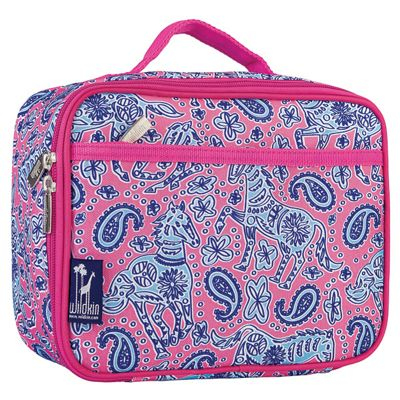 Kids' Lunch Box- Paisley Horses