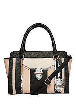 F&F Colour Block Winged Tote Bag