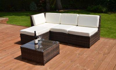 buy cadiz modular garden rattan corner sofa set with table. Black Bedroom Furniture Sets. Home Design Ideas