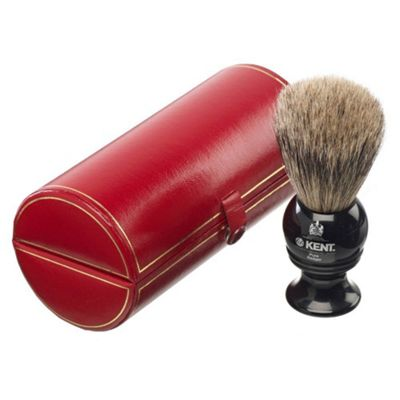 Kent BLK2 Pure Badger Shaving Brush - Black