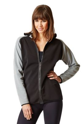 Reversible Hooded Luxe Jacket Black-Grey 2X